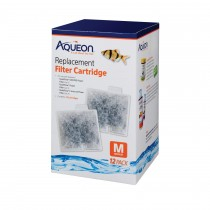 "Aqueon Replacement Filter Cartridges 12 pack Medium 4.9"" x 2"" x 5.7"""