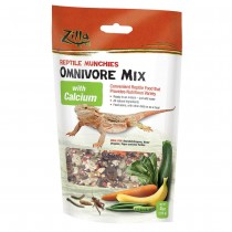 "Zilla Reptile Munchies Omnivore with Calcium 4 ounces 5.875"" x 2.75"" x 9.5"""