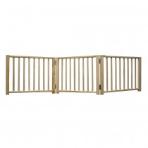 "Four Paws Smart Design Folding Freestanding Gate 3 Panel Beige 24"" - 68"" x 1"" x 17"""