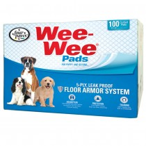 "Four Paws Wee-Wee Pads 100 pack White 22"" x 23"" x 0.1"""