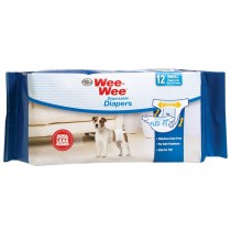 Four Paws Wee-Wee Disposable Diapers 12 pack Small White
