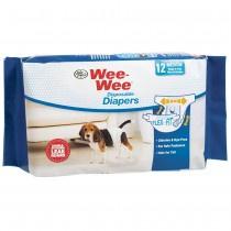Four Paws Wee-Wee Disposable Diapers 12 pack Medium White