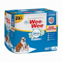 "Four Paws Wee-Wee Odor Control with Febreze Freshness Pads 100 count White 22"" x 23"" x 0.1"""