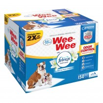 "Four Paws Wee-Wee Odor Control with Febreze Freshness Pads 150 count White 22"" x 23"" x 0.1"""