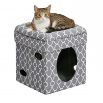 "Midwest Curious Cat Cube Gray 15.13"" x 15.13"" x 16.50"""