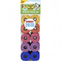 Bags on Board Waste Pick-Up Refill Bags 140 count Multi-Color