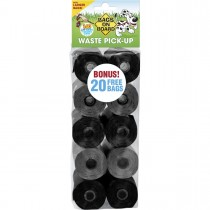Bags on Board Waste Pick-Up Refill Bags 140 count Black / Grey