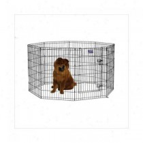 Midwest Black E-Coat Pet Exercise Pen with Walk-Thru Door