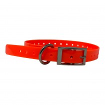 "The Buzzard's Roost Replacement Collar Strap 3/4"" Orange 3/4"" x 24"""