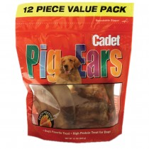 Cadet Natural Pig Ears 12 pack