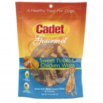 Cadet Premium Gourmet Chicken and Sweet Potato Wraps Treats 14 ounces