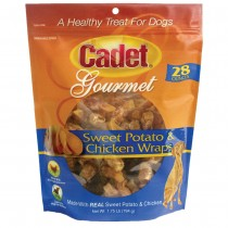 Cadet Premium Gourmet Chicken and Sweet Potato Wraps Treats 28 ounces