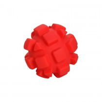 "Hueter Toledo Soft Flex Bumby Ball Dog Toy Red 4"" x 4"" x 4"""