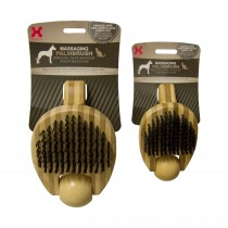 "Hugs Pet Products Massaging Pet Palm Brush Small Brown 5.75"" x 3"" x 2.25"" - HUG-50008"