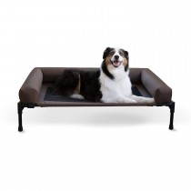"K&H Pet Products Original Bolster Pet Cot Large Chocolate 30"" x 42"" x 7"""