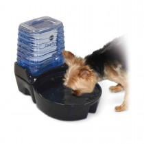 "K&H Pet Products CleanFlow Dog Ceramic Fountain with Reservoir 170 oz. Small Black 11.5"" x 9"" x 10.5"" KH2582"