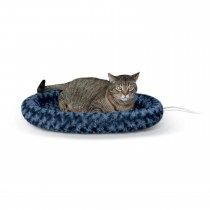 "K&H Pet Products Thermo-Kitty Fashion Splash Bed Large Blue 16"" x 22"" x 2"""
