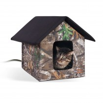 """K&H Pet Products Realtree Thermo Outdoor Kitty House Camo 22"""" x 18"""" x 17"""""""