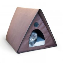 K&H Pet Products Outdoor Multiple Kitty A-Frame Chocolate