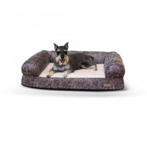 "K&H Pet Products Bomber Memory Dog Sofa Medium Gray 24"" x 33"" x 8.5"""