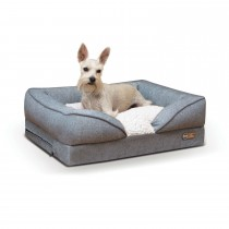 "K&H Pet Products Pillow-Top Orthopedic Pet Lounger Small Gray 18"" x 24"" x 8"""