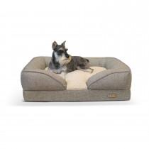 """K&H Pet Products Pillow-Top Orthopedic Pet Lounger Medium Tan 24"""" x 30"""" x 8.75"""""""