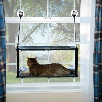 "K&H Pet Products Kitty Sill - Double Stack EZ Window Mount Gray / Black 12"" x 23"" x 0.5"" - KH9092"