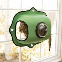 "K&H Pet Products EZ Mount Window Bubble Cat Pod Green 27"" x 20"" x 7.5"""