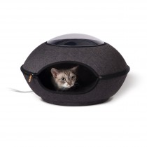 "K&H Pet Products Thermo-Lookout Cat Pod Gray 21"" x 21"" x 7.5"""