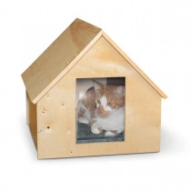 "K&H Pet Products Birdwood Manor Unheated Kitty House Wood 18"" x 16"" x 15"""