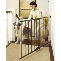 "North States Easy Swing and Lock Wall Mounted Matte Bronze Gate 28"" - 48""  x 31"" - NS4955"