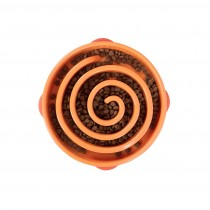 "Outward Hound Fun Feeder Slo-Bowl Swirl Small Orange 9.5"" x 8"" x 2.5"""