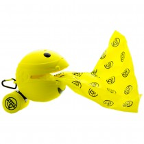 "Potty Mouth Portable Hygienic Pooper Scooper Medium Yellow 3.5"" x 3.5"" x 3.5"""
