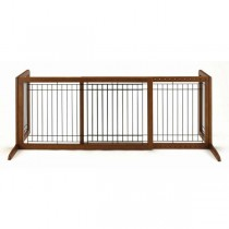 "Richell Freestanding Pet Gate Large Autumn Matte 39.8"" - 71.3"" x 17.7"" x 20.1"" - R94136"