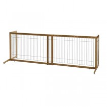 "Richell Také Freestanding Pet Gate Coffee Bean 40.4"" - 70.5"" x 20.1"" x 24"" - R94180"
