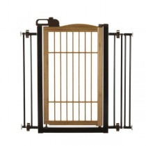 """Richell Také One-Touch Pet Gate Bamboo 28.3"""" - 35.8"""" x 2"""" x 34.6"""" - R94181"""