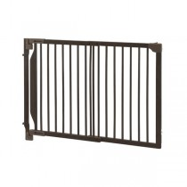 "Richell Expandable Walk-Thru Pet Gate Coffee Bean 31.5"" - 47.2"" x 2"" x 32.3"" - R94182"