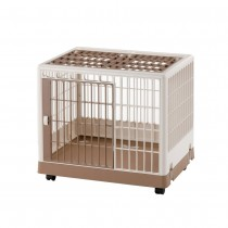 "Richell Pet Training Kennel PK-650 Off White/ Mocha 25.4"" x 19.7"" x 22"" - R94603"