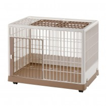"Richell Pet Training Kennel PK-830 Off White/ Mocha 32.5"" x 21.7"" x 24.6"" - R94604"