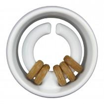 "Starmark Dog Treat Ringer Orb White 4.5"" x 4.5"" x 2.75"""