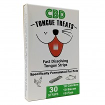 Tongue Treats Pet CBD Strip Treat 30 Strip Variety Pack White