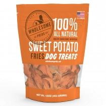 "Wholesome Pride Sweet Potato Fries Dog Treats 8 ounces 2.75"" x 7.5"" x 8.5"""
