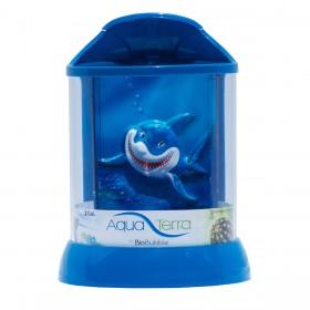 """BioBubble Aqua Terra 3D Shark Background 2 Gallon Blue 9"""" x 9"""" x 12"""" - BIO-20298402"""
