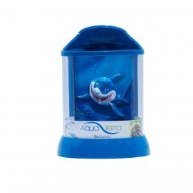 """BioBubble Aqua Terra 3D Shark Background 1 Gallon Blue 7.5"""" x 7.5"""" x 10"""" - BIO-20300402"""
