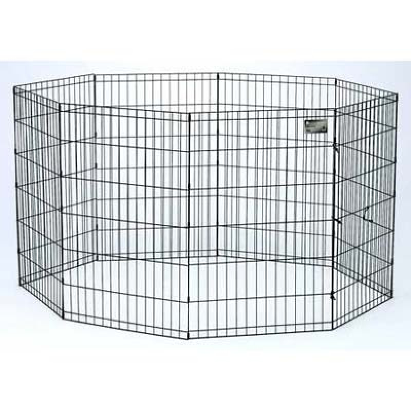Midwest Black E-Coat Pet Exercise Pen